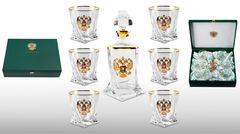 Подарочный набор для виски со штофом «Империал gold»