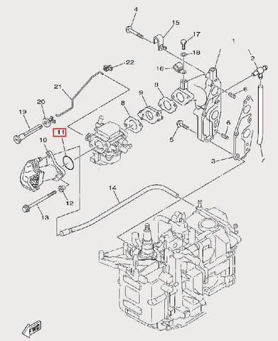 Кольцо уплотнительное Φ2.4×Φ31 для лодочного мотора F9,9 Sea-PRO (6-11)