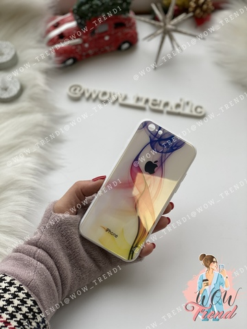 Чехол Iphone 6/6s Glass Polaris Smoke /white/