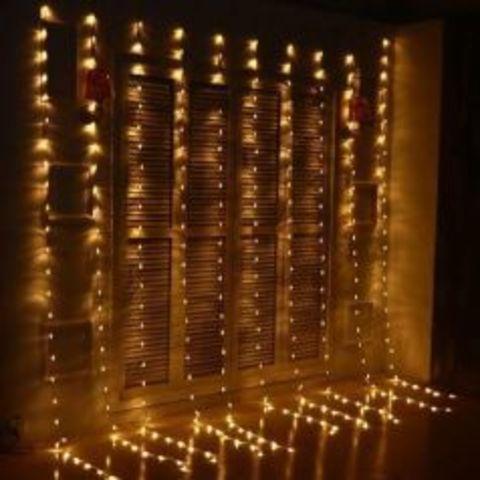 Гирлянда водопад теплый цвет LED