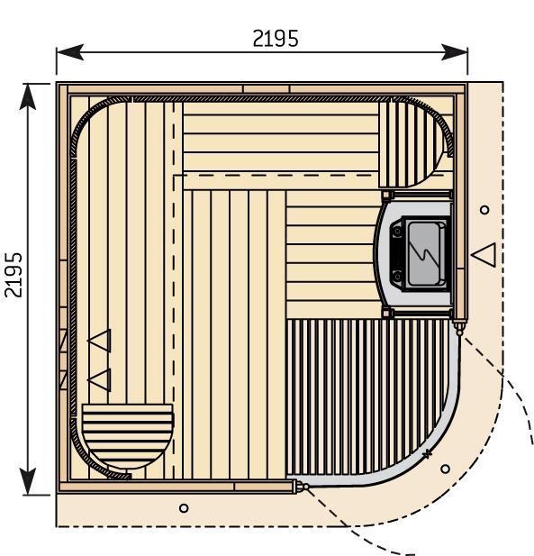 Готовая сауна Harvia Rondium S 2222 KL ольха, фото 2