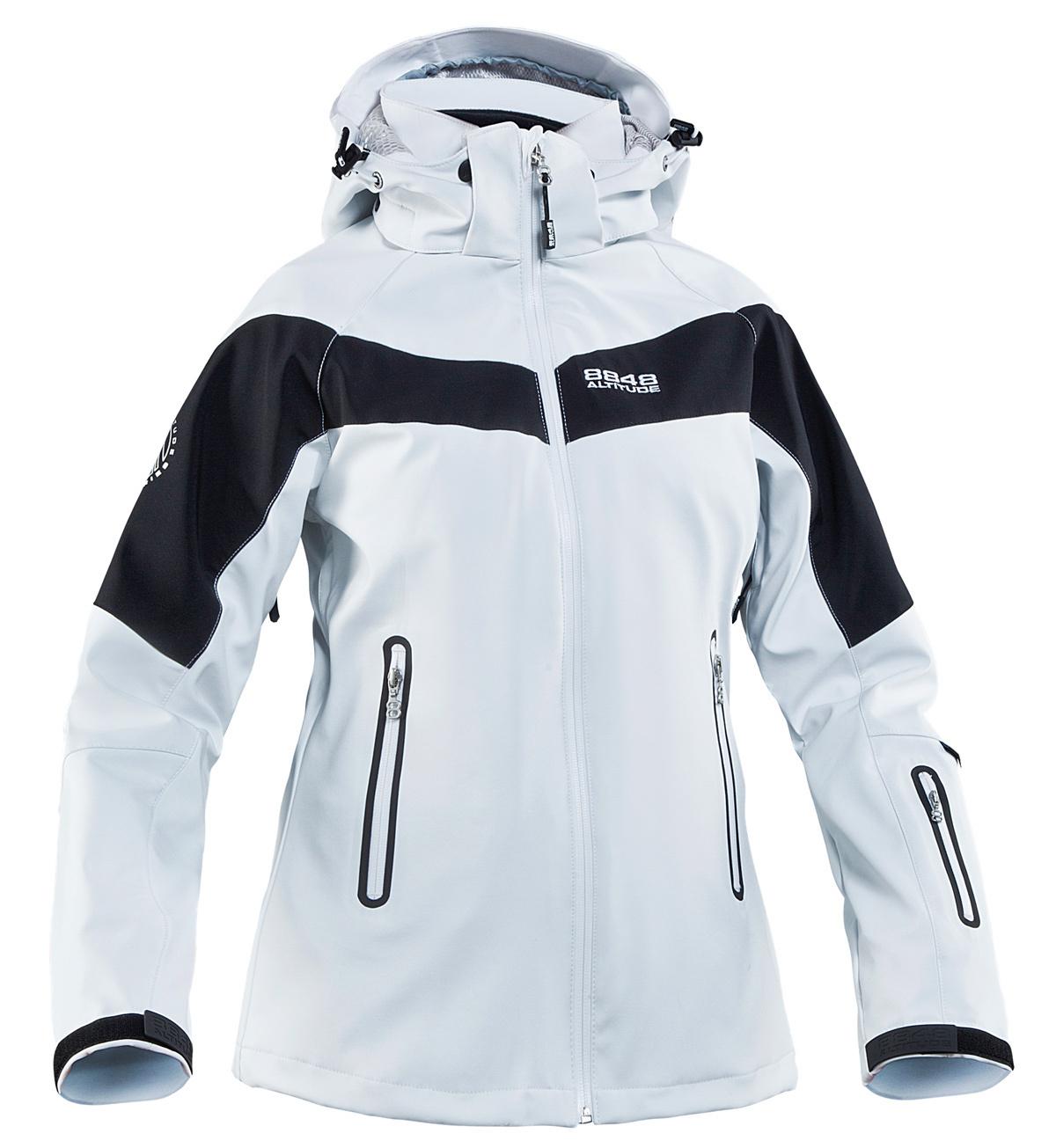 8848 Altitude JUNE SOFTSHELL женская ветрозащитная куртка белая