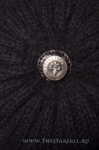 Шапка «Black War» от 7.17 Studio Luxury с лилией из кожи питона