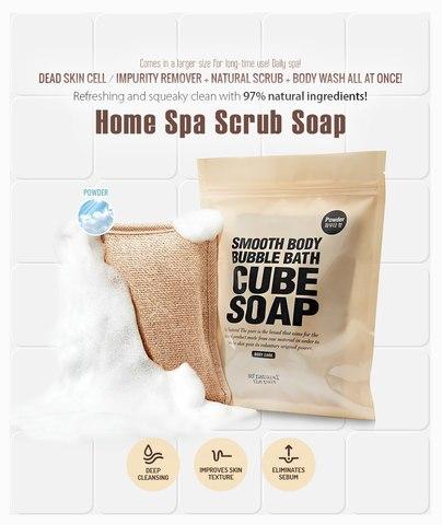 Массажная мочалка с натуральными мыльными кубиками, 120 г / So Natural Cube Soap