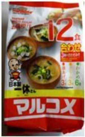Instant Miso Soup Ikkyu-san 12servings(wakame-6, tofu-3, fried tofu-3)