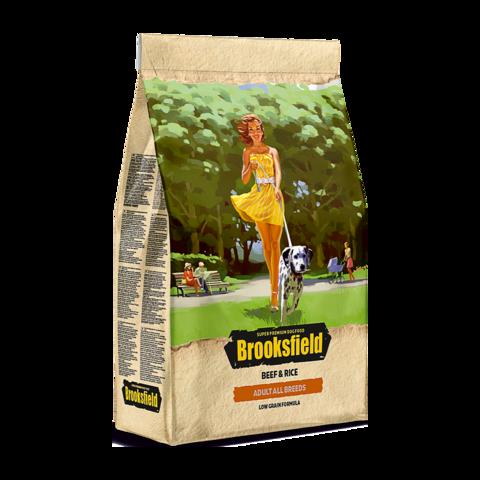 Brooksfield Adult All Breeds Beef & Rice Сухой корм для собак с говядиной и рисом