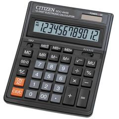 Калькулятор настольный CITIZEN бухг. SDC-444S 12 разряд. Dual Power