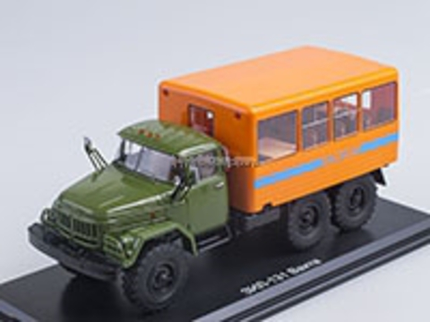 ZIL-131 shift work bus khaki-orange 1:43 Start Scale Models (SSM)