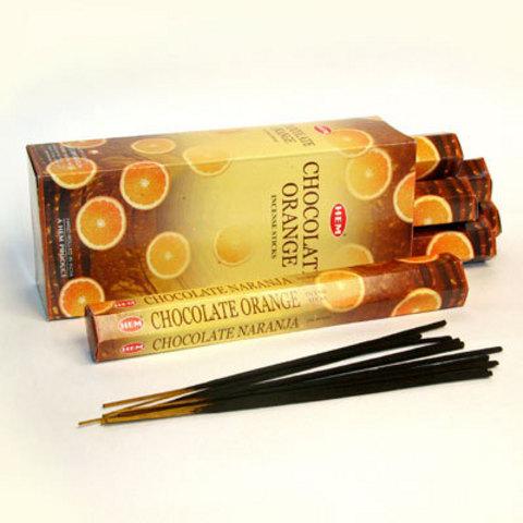 Благовония HEM шоколад апельсин (20 шт)