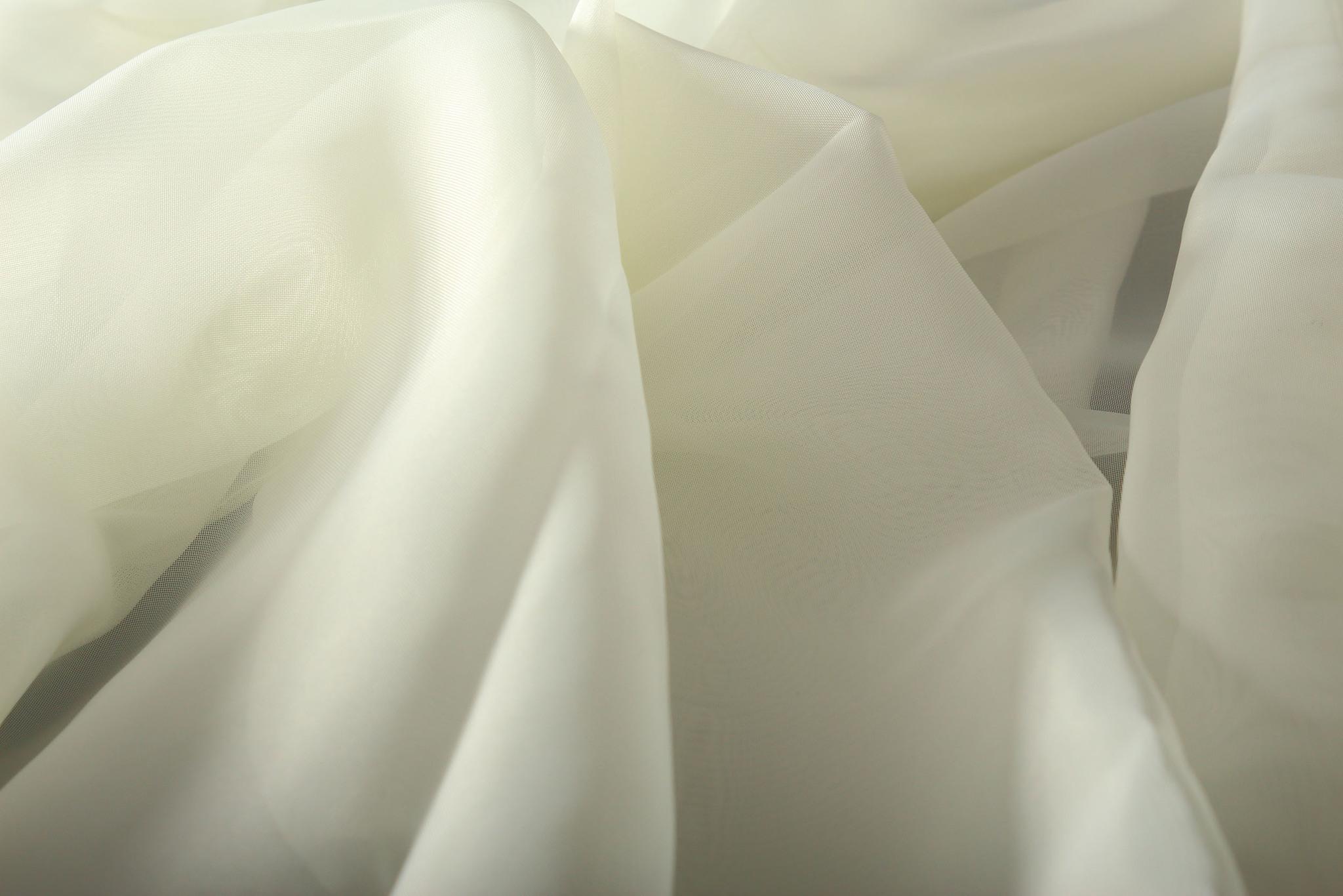 Длинные шторы. Тюль вуаль Classic Voile (creme)