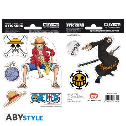 Наклейки ABYstyle: ONE PIECE: Luffy  Law ABYDCO445