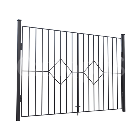 Ворота с ромбами