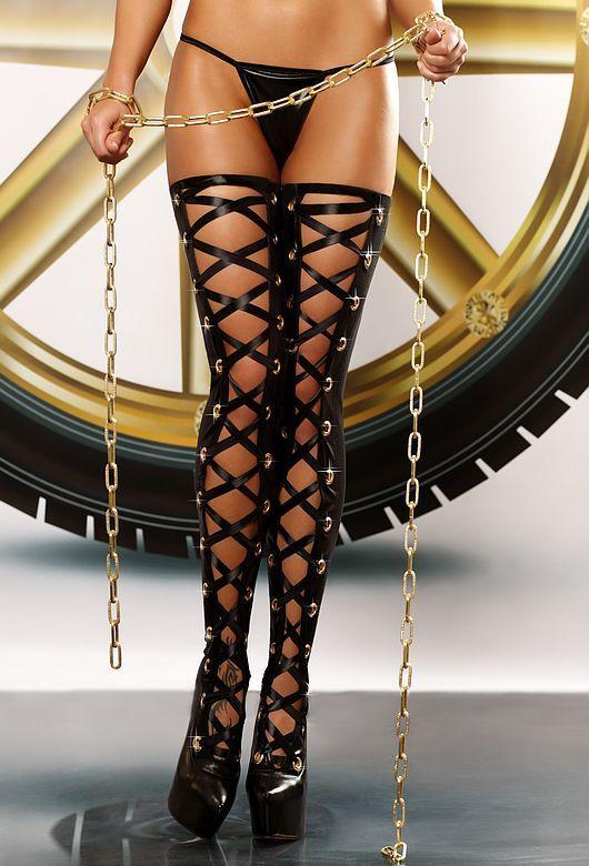 Чулки и колготки: Чулки со шнуровкой Bizarre stockings