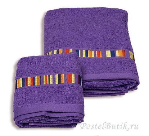 Набор полотенец 2 шт Caleffi Yupi фиолетовый