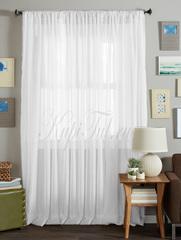 Длинные шторы. Тюль вуаль Classic Voile (white)