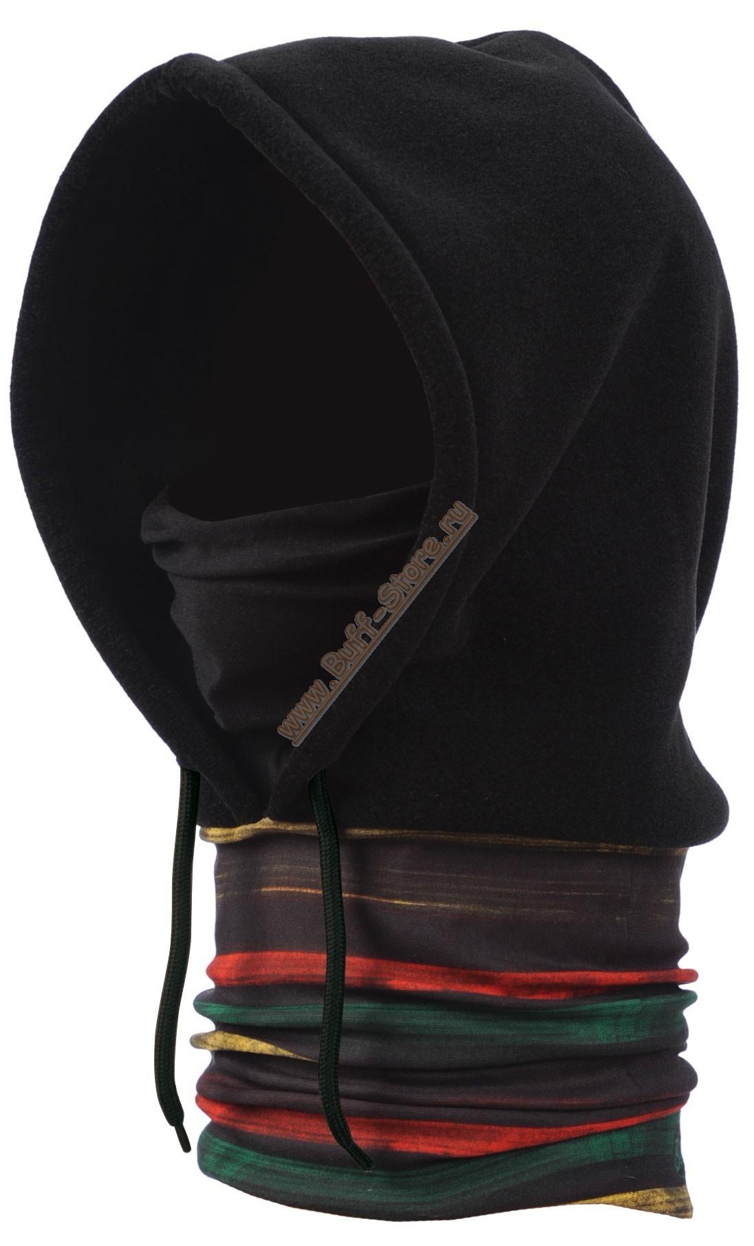 Капюшон-шарф из флиса Buff Rasta Line