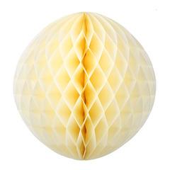 Бумажное украшение шар 40 см бежевый
