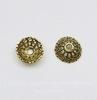 Шапочка для бусины (цвет - античное золото) 14х5 мм, 10 штук