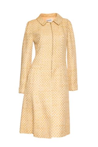 Элегантное пальто из твида пастельных оттенков от Chanel, 36 размер.