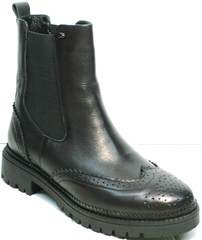 Ботинки женские демисезон Jina 7113 Leather Black