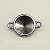"""Сеттинг - основа - коннектор TierraCast """"Грани"""" (1-1) для страза 12 мм (цвет-античное серебро)"""