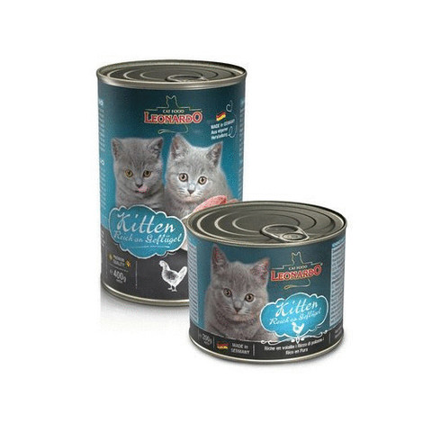 Влажный корм (банка) Leonardo Quality Selection Kitten Rich In Poultry