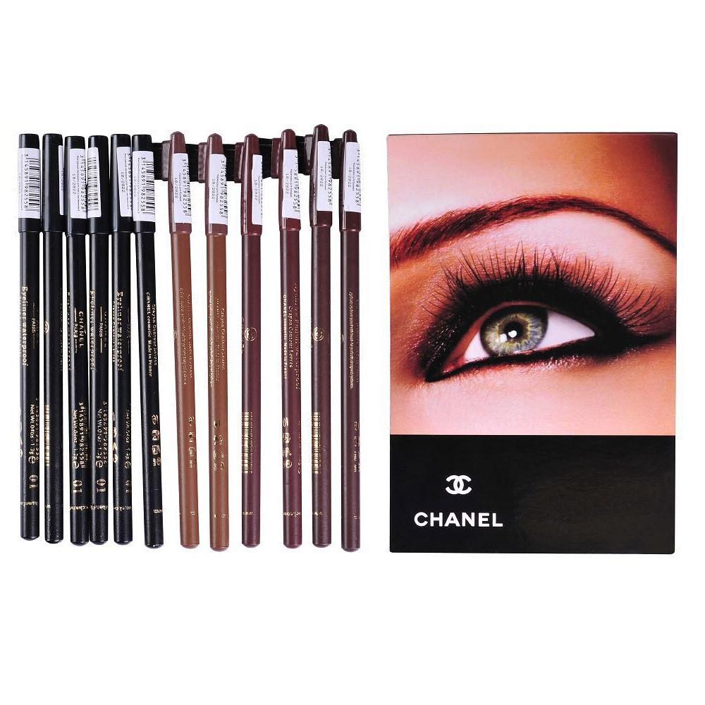 Набор карандашей для глаз и бровей CHANEL, 12 шт.