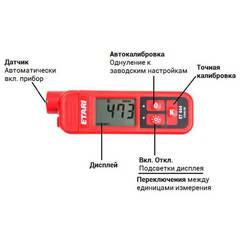 Описание элементов управления толщиномера Etari ET-444