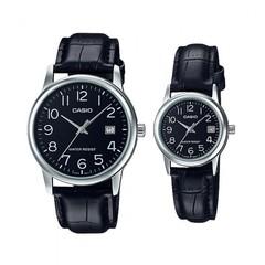Парные часы Casio Standard: MTP-V002L-1B и LTP-V002L-1B