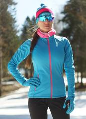 Женская элитная утеплённая лыжная куртка Nordski Elite G-TX Blue 2019