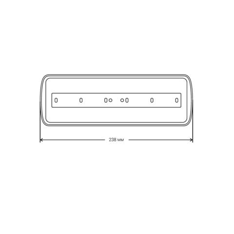 Светильники аварийного антипанического освещения PL EML 1.0 – размеры