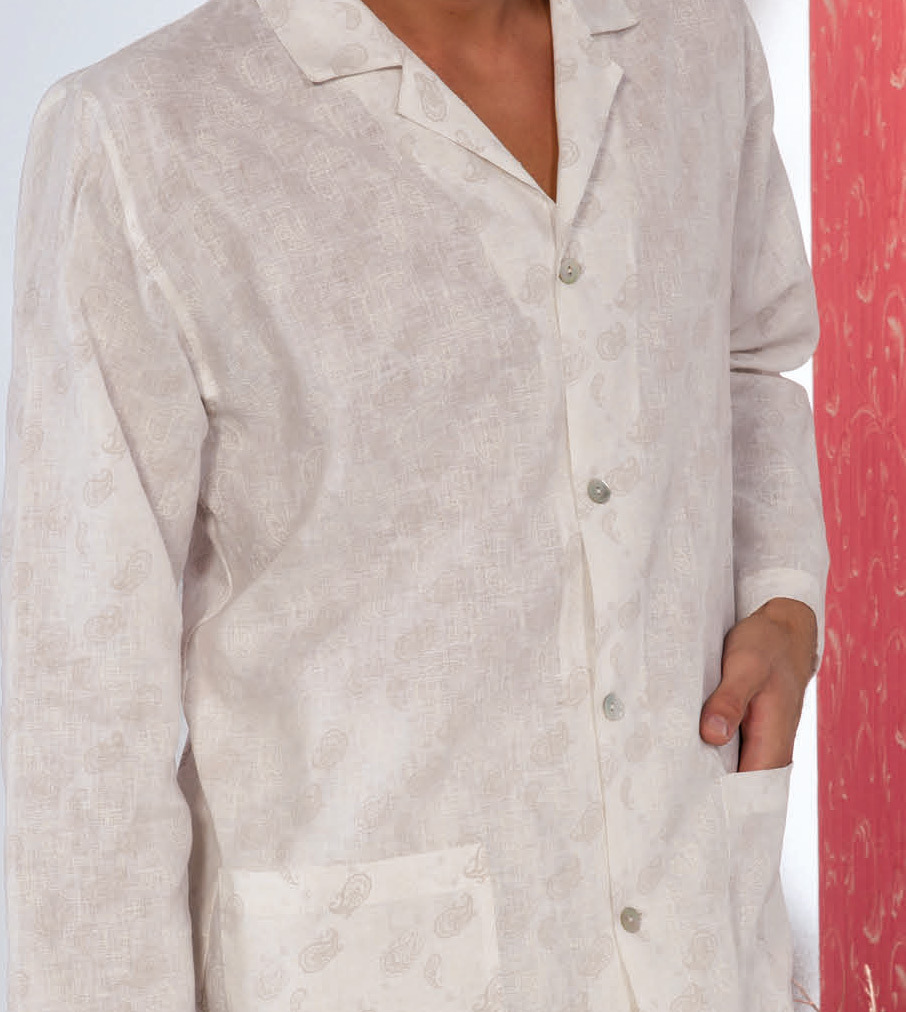 Льняная мужская пижама B&B