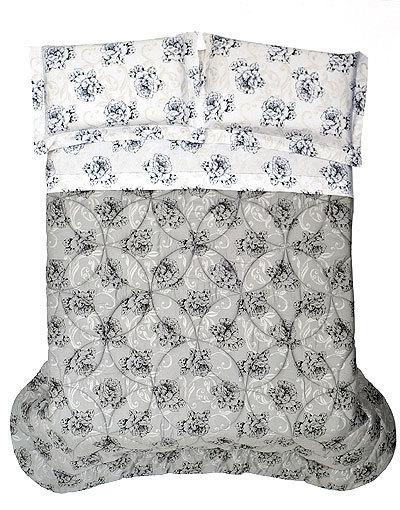 Постельное белье 1.5 спальное Cassera Casa Tarambel серое