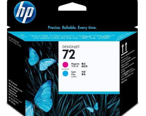 Печатающая головка №72 для HP DesignJet T1100/T610 пурпурная и голубая (C9383A)