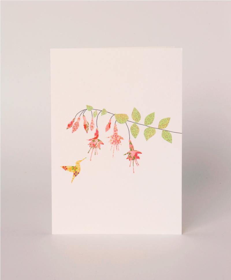 Открытка Fuchsias & Hummingbirds