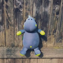 Подушка-игрушка антистресс «Бегемот Няша», желтый 5