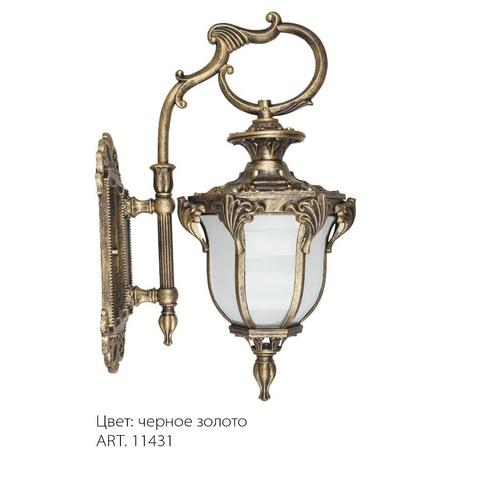 Светильник садово-парковый, 60W 230V E27 IP44 черное золото, PL4052 (Feron)