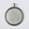 Сеттинг - основа - подвеска для камеи или кабошона 40 мм (цвет - античное серебро)