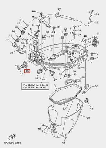 Коннектор для лодочного мотора F20 Sea-PRO (15-15)