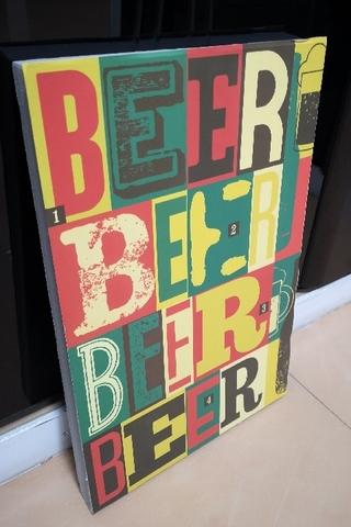 Табличка на пенополистироле Beer