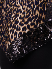Монна принт. Красивая туника большого размера. Леопард беж.