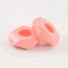 Бусина акриловая для пандоры, рондель с огранкой, цвет - нежно-розовый, 14х5 мм