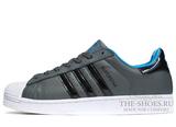 Кроссовки Мужские Adidas SuperStar Grey White Black