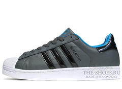 Кроссовки Мужские Adidas SuperStar Grey White Black