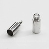 Концевик для шнура 3 мм, 9х3,5 мм (цвет - платина), 10 штук