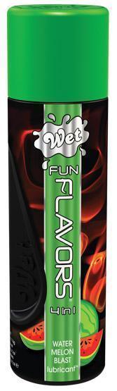 Возбуждающие: Разогревающий лубрикант Fun Flavors 4-in-1 Watermelon Blast с ароматом арбуза - 121 мл.