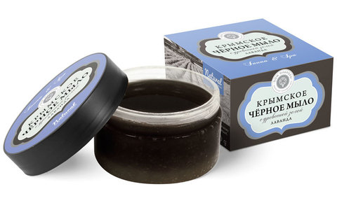 Крымское чёрное мыло Лаванда