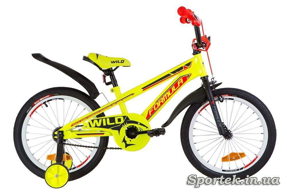 Детский велосипед Formula Wild - желто-оранжевый