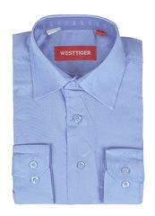 66-10 рубашка для мальчиков, светло-голубая