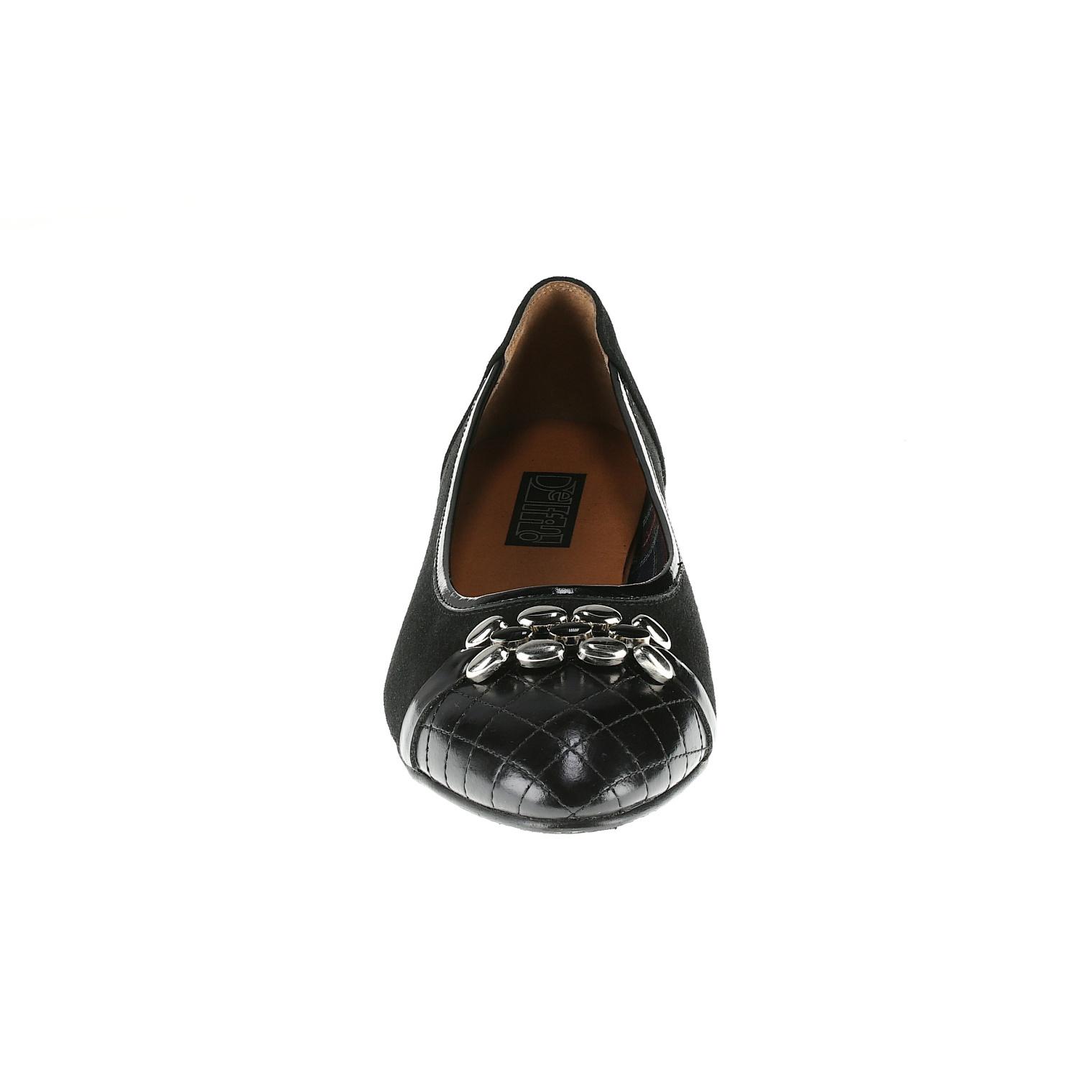 569299 Туфли женские черные больших размеров марки Делфино